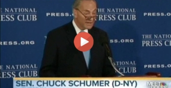 Chuck Schumer give Republicans a false talking point and they use it. Deval Patrick gets it right (VIDEO)